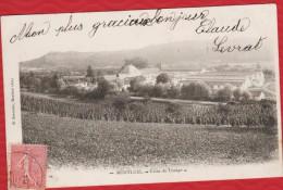 01 MONTLUEL Usine De Tissage - Précurseur  Postée De Montluel En 1904 - R/V - Montluel