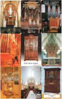 Lot De 9 Télécartes Téléphone Musique Music Musik Orgue Orgel Organ Organo オルガン (1/3) - Music