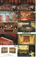 Lot De 10 Télécartes Téléphone Musique Music Musik Concert Orchestre Orgue Orgel Organ Organo (2/3) - Music