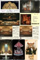 Lot De 09 Télécartes Téléphone Musique Music Musik Concert Orchestre Orgue Orgel Organ Organo (3/3) - Music