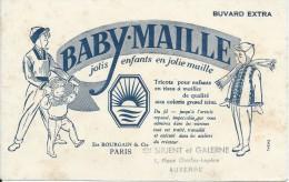 Buvard/Textile Et Vestimentaire/Bourgain/Paris/ Sirjent Et Galerne/AUXERRE /Vers 1950  BUV225 - Textile & Vestimentaire