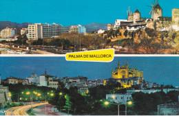 España--Palma De Mallorca--1979--Molinos Del Paseo Maritimo Y La Catedral--Fechador--Palma-a Levallois, Francia - Molinos De Viento