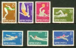 ROMANIA 1963 MNH** - Water Sports - Mi 2153-9; CV = 6 € - 1948-.... Republics