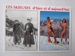 NU FÉMININ SEINS NUS ÉROTIQUE ÉROTISME FEMME NUE CHARME PIN UP Les Skieuses - Pin-Ups