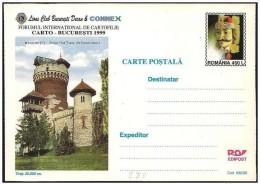 Romania/Roumanie: Intero, Stationery, Entier, Vlad Tepes, Dracula, Castello, Castle, Château - Beroemde Personen