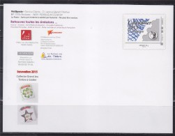 = Carte Entier Postal Monde 20g Programme Philatélique Calendrier 2015 Le 1er Semestre. - Pseudo-interi Di Produzione Ufficiale