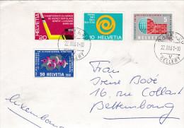 1961 Brief Von Basel Gellert Nach Bettembourg Luxemburg Hokey Sur Glace - Suisse