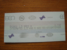Greece Athens transportation ticket bus, trolley, tram, electric rail, metro, suburban rail