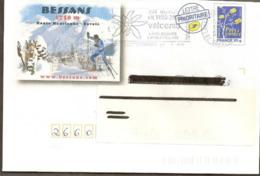 """Lettre  PAP  """"  Bessans  """"  ( 73  )  Du  15-1-2009  Flamme Valcenis   (73)   Lettre Prioritaire    """"  Logo Bleu  """" - PAP: Ristampa/Logo Bleu"""