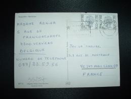 CP POUR LA FRANCE TP 6F50 X2 OBL.MEC.23-4-77 VERVIERS + ESPERANTO LA LANGUE INTERNATIONALE - Esperanto