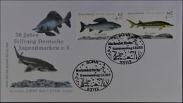 Bund BRD Ersttagsbrief FDC 6. August 2015  Nr. 3169+3171 ZD Süßwasserfische - FDC: Briefe