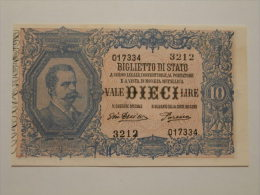 10 Lire Umberto I° - D.M. 29-07-1918 - Italia – 10 Lire