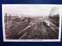 60-434 Dépot Des Trains CREIL - Gares - Avec Trains
