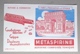 Buvard Métaspirine Aspirine Composée Tonique Arc De Triomphe De L'étoile - Drogisterij En Apotheek