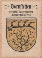 Werbemarke (Reklamemarke, Siegelmarke) Kaffee Hag : Wappen Von Dornstetten - Cinderellas
