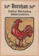 Werbemarke (Reklamemarke, Siegelmarke) Kaffee Hag : Wappen Von Dornhan - Cinderellas