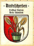 Werbemarke (Reklamemarke, Siegelmarke) Kaffee Hag : Wappen Von Dinkelscherben - Cinderellas