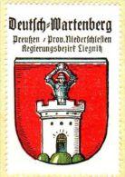 Werbemarke (Reklamemarke, Siegelmarke) Kaffee Hag : Wappen Von Deutsch Wartenberg - Cinderellas