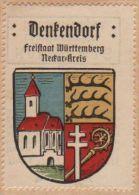 Werbemarke (Reklamemarke, Siegelmarke) Kaffee Hag : Wappen Von Denkendorf - Cinderellas