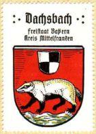 Werbemarke (Reklamemarke, Siegelmarke) Kaffee Hag : Wappen Von Dachsbach - Cinderellas