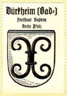 Werbemarke (Reklamemarke, Siegelmarke) Kaffee Hag : Wappen Von Bad Dürkheim - Cinderellas