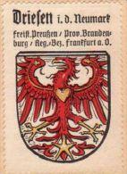 Werbemarke (Reklamemarke, Siegelmarke) Kaffee Hag : Wappen Von Driesen In Der Neumark - Cinderellas