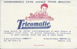 Buvard/Textile Et Vestimentaire/Tricotmatic/Appareil à Tricoter Familial/TROYES/Vers 1950  BUV227 - Vestiario & Tessile