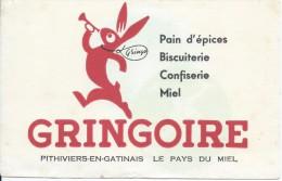 Buvard/Pain D'épice/GRINGOIRE/ Couleur Blanche/Pithiviers-en-Gatinais/Vers 1950  BUV229 - Pain D'épices