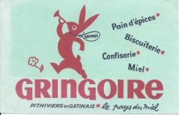Buvard/Pain D´épice/GRINGOIRE/ Couleur Vert/Pithiviers-en-Gatinais/Vers 1950  BUV230 - Pain D'épices