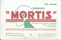 Buvard/Insecticide/ Mortis/Destruction Des Rongeurs Et Des Insectes/MONTREUIL-sous-BOISSeine/Vers 1950    BUV234 - Blotters