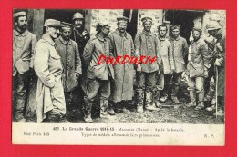 Marne - MASSIGES - Guerre 1914-06 - Après La Bataille ... Types De Soldats Allemands Fait Prisonniers ... - France