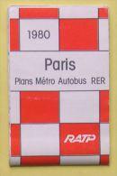RATP METRO AUTOBUS RER - PARIS - 65 X 44 Cm (ouvert) - 3 SCANS - Europe