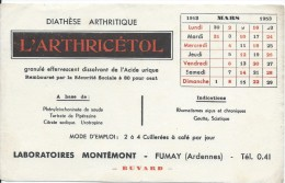Buvard/Produits Pharmaceutiques / Arthricétol/Laboratoires Montémon/FUMAY/ Ardennes/1953  BUV238 - Chemist's