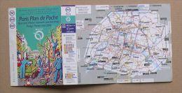 RATP METRO BUS RER - PARIS  PLAN DE POCHE - 1999 - 2 SCANS - Europe