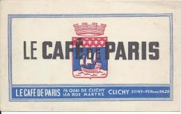 Buvard/Commerce/Le Café De Paris /CLICHY/Seine /Vers 1950    BUV239 - Buvards, Protège-cahiers Illustrés