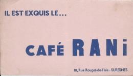 Buvard/Café EtThé/Café RANI/Ilestexquis/SURESNES/Seine /Vers 1950    BUV240 - Coffee & Tea