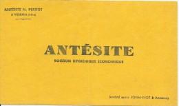 Buvard/Alimentaire/ Antésite/ Boisson Hygiénique Economique/Perrot/ VOIRON/Isére/Johanno/Annonay/Vers 1950    BUV241 - Food