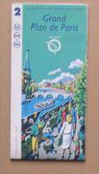 RATP METRO BUS RER TRAMWAY - GRAND PLAN PARIS - AVRIL 1993 - 58 X 84 Cm (ouvert) - 3 SCANS - Europe