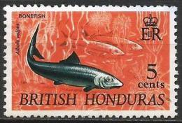 British Honduras 1968 - Mi. 215X O, Native Wildlife, Bonefish (Albula Vulpes) - British Honduras (...-1970)