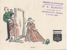 Buvard/Textile & Vestimentaire/BOUSSAC/Aumont / SURESNES/Seine/Vers 1950    BUV242 - Textile & Vestimentaire