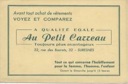 Buvard/Textile & Vestimentaire/Au Petit Carreau / SURESNES/Seine/Vers 1950    BUV243 - Textile & Vestimentaire