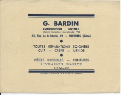 Buvard/Chaussures/Cordonnier-Bottier/G. BARDIN/ SURESNES/Seine/Vers 1950    BUV243 - Shoes