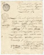 Ecrit Ancien à Déterminer, 1 Page, Papier Filigrané - Manuscrits