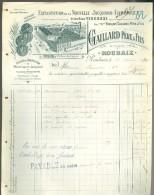 Facture ( 147 )   Faktuur  :   Ateliers De Constructions   Gaillard Père & Fils   Roubaix - France