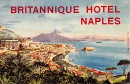 """02190 """"NAPLES - BRITANNIQUE HOTEL"""" ARREDAMENTO IN STILE IMPERO, LUIGI XVI, AET NOUVEAU ED ART DECO.  ETIC. ORIG"""
