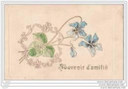 """Cpa  Réf-JP-T173  """"""""""""""""""""""""""""""""  Carte Gauffrée """"""""""""""""""""""""""""""""               (  Souvenir   Amitié  ) - Fantaisies"""