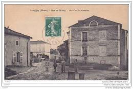 Cpa  Réf-JP-T299 (  Dép-55 à SAUVIGNY )       Groupe De Personnes Sur La Place De La Fontaine - Rue De Brixey - Autres Communes