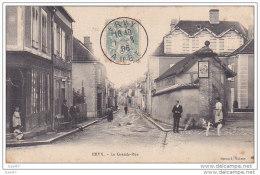 """Cpa Réf-JP-P498 (  Dép-10 à ERVY 1906 ) On Est Sorti En Curieux Dans La Grande-rue  """""""" Même Le Chien """" - Ervy-le-Chatel"""