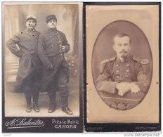2 PHOTOS  Cartonées Réf-JP-Q-668  (  Grande Guerre 1914-18 _ )    MILITAIRES - Guerre, Militaire