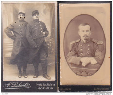 2 PHOTOS  Cartonées Réf-JP-Q-668  (  Grande Guerre 1914-18 _ )    MILITAIRES - Guerra, Militari